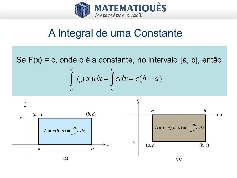 A Integral de uma Constante