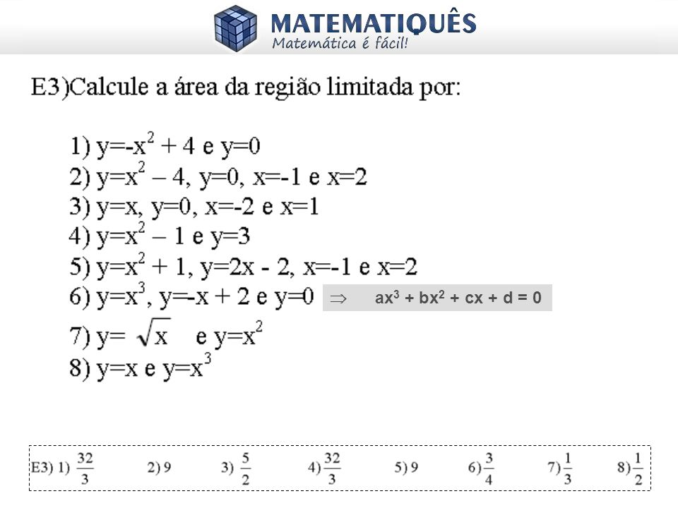  ax3 + bx2 + cx + d = 0