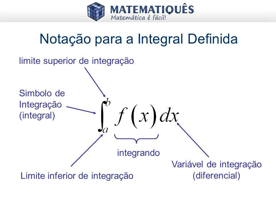 Notação para a Integral Definida