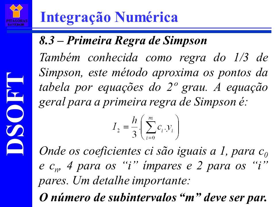 Integração Numérica 8.3 – Primeira Regra de Simpson