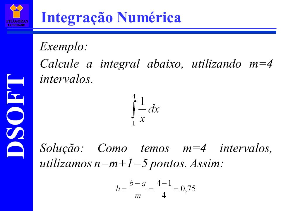 Integração Numérica Exemplo: