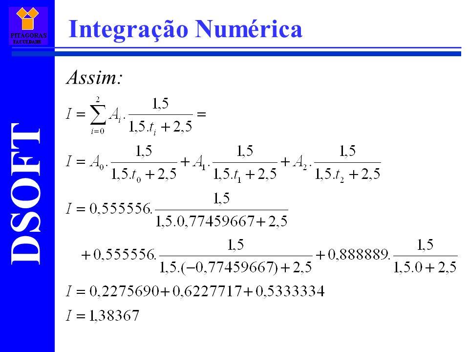 Integração Numérica Assim: