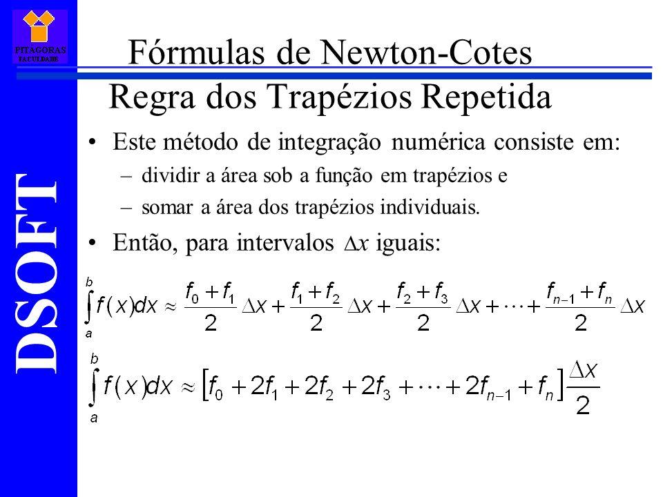 Fórmulas de Newton-Cotes Regra dos Trapézios Repetida