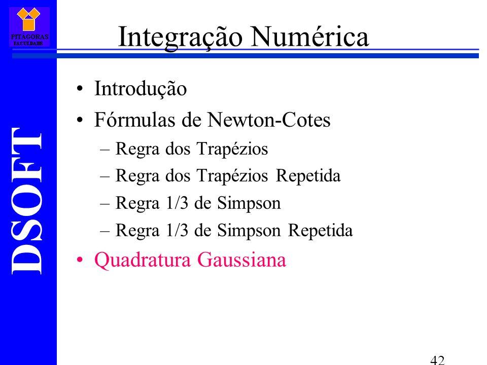 Integração Numérica Introdução Fórmulas de Newton-Cotes