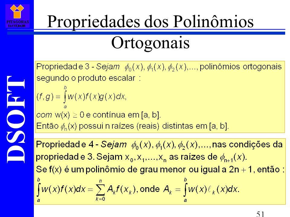 Propriedades dos Polinômios Ortogonais