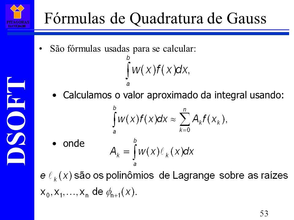 Fórmulas de Quadratura de Gauss