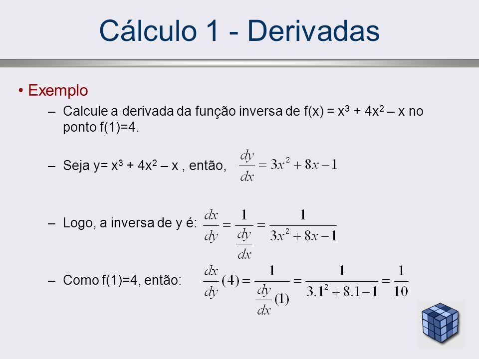 Cálculo 1 - Derivadas Exemplo
