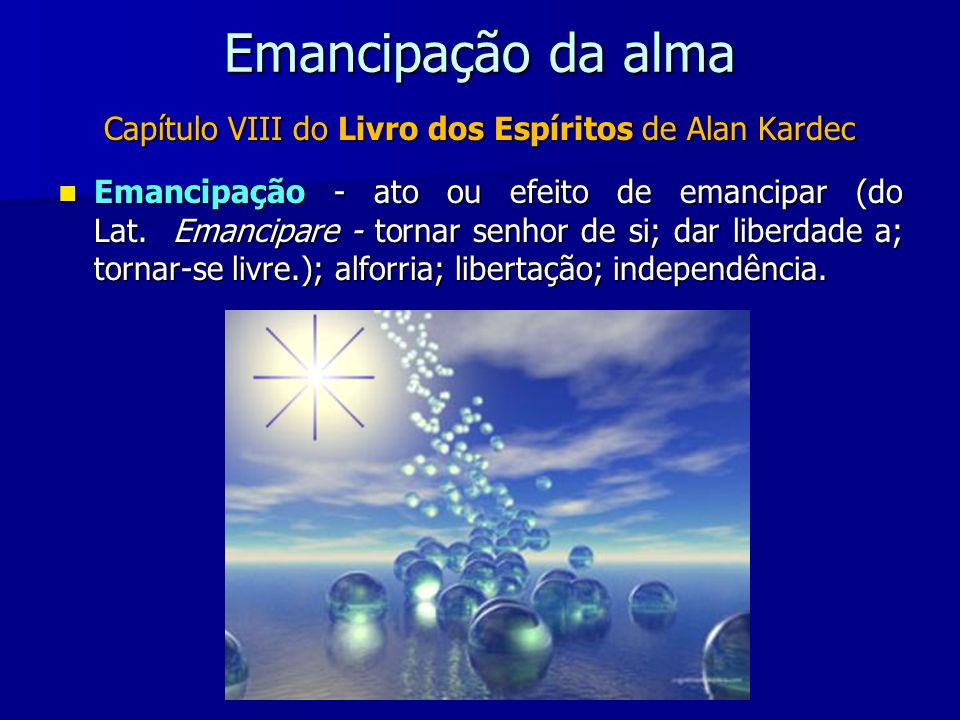 Capítulo VIII do Livro dos Espíritos de Alan Kardec