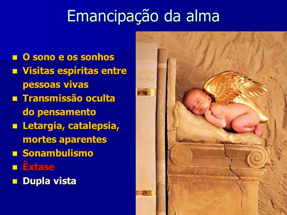 Emancipação da alma O sono e os sonhos Visitas espíritas entre