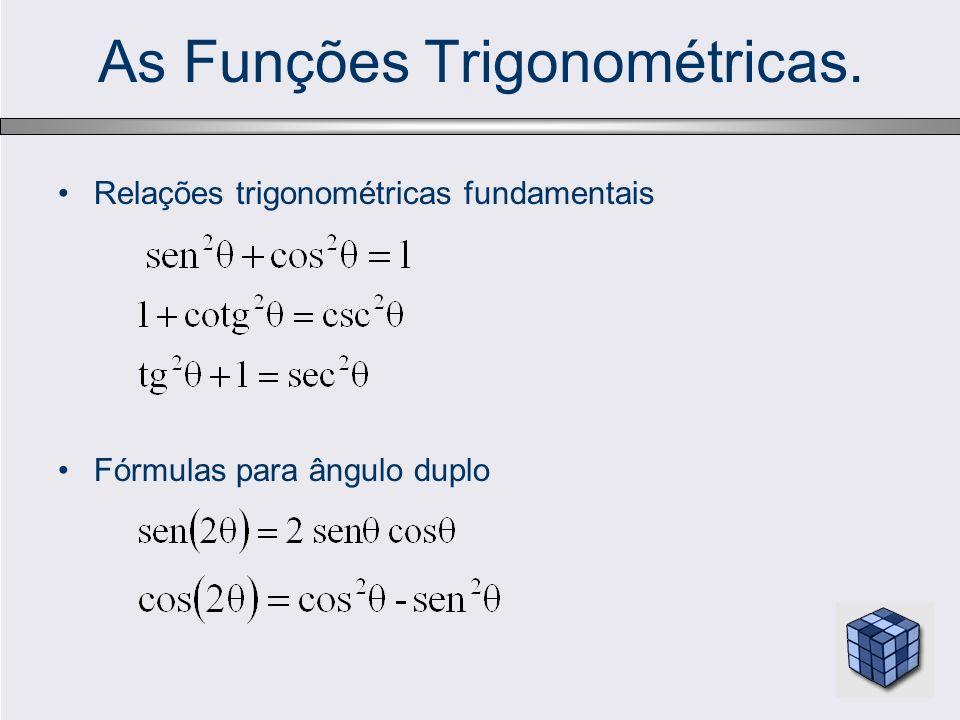 As Funções Trigonométricas.