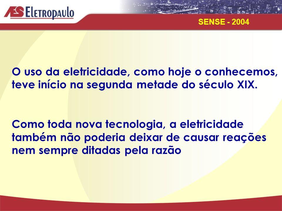 O uso da eletricidade, como hoje o conhecemos, teve início na segunda metade do século XIX.