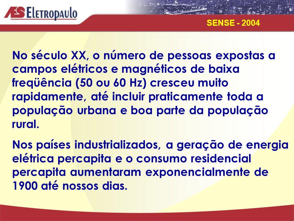 No século XX, o número de pessoas expostas a campos elétricos e magnéticos de baixa freqüência (50 ou 60 Hz) cresceu muito rapidamente, até incluir praticamente toda a população urbana e boa parte da população rural.