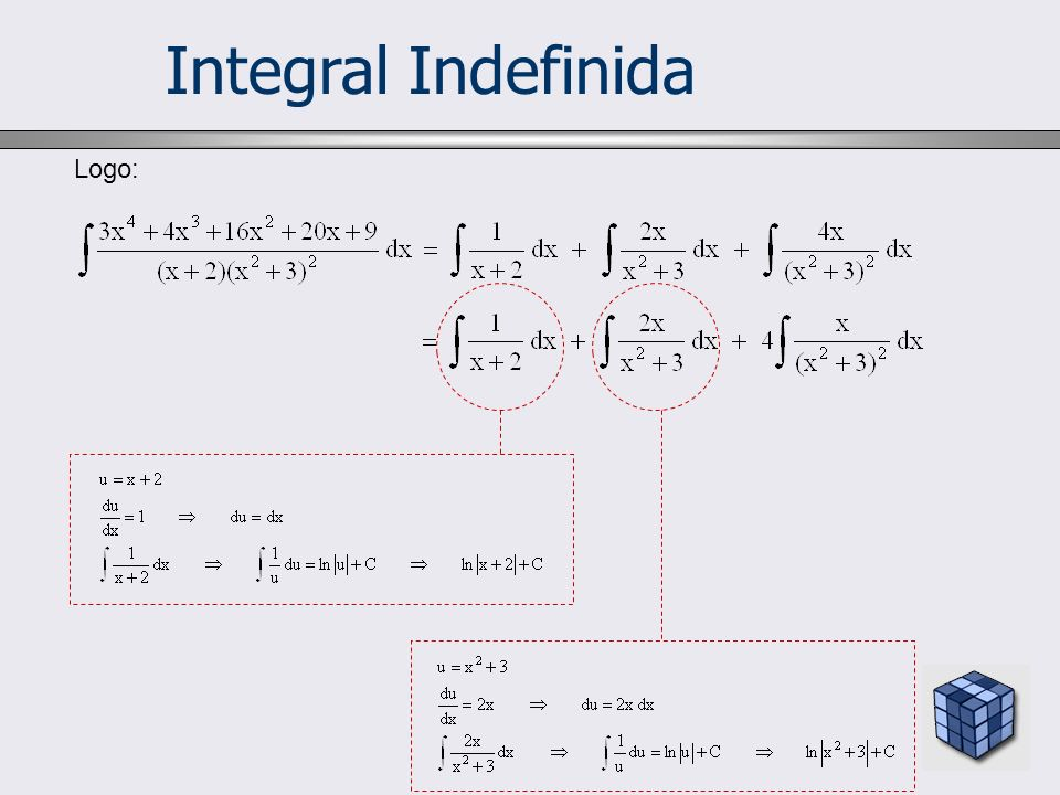 Integral Indefinida Logo: 6