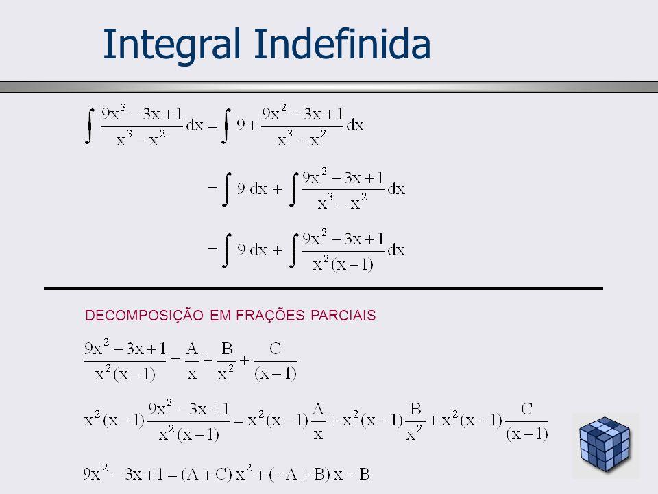 Integral Indefinida DECOMPOSIÇÃO EM FRAÇÕES PARCIAIS 9