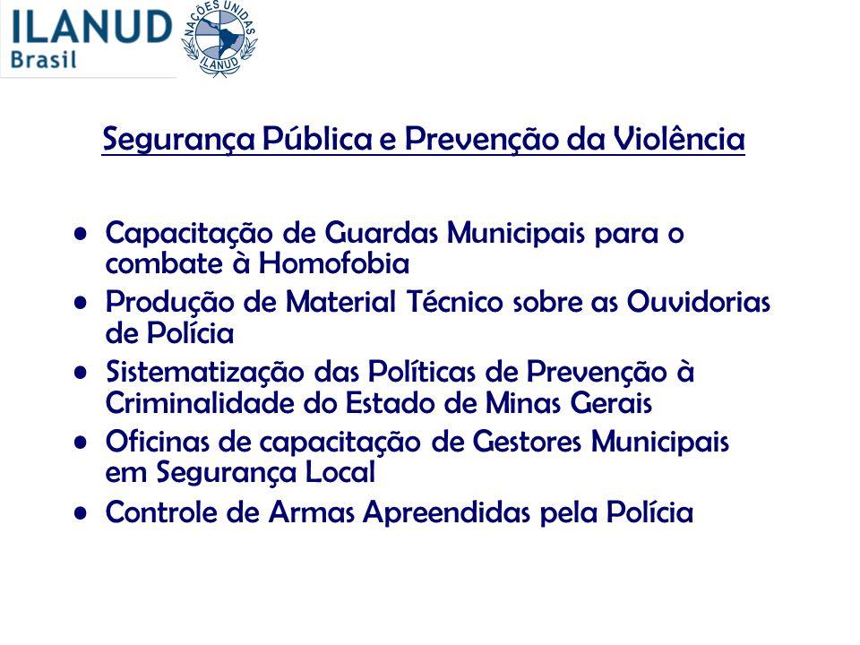 Segurança Pública e Prevenção da Violência