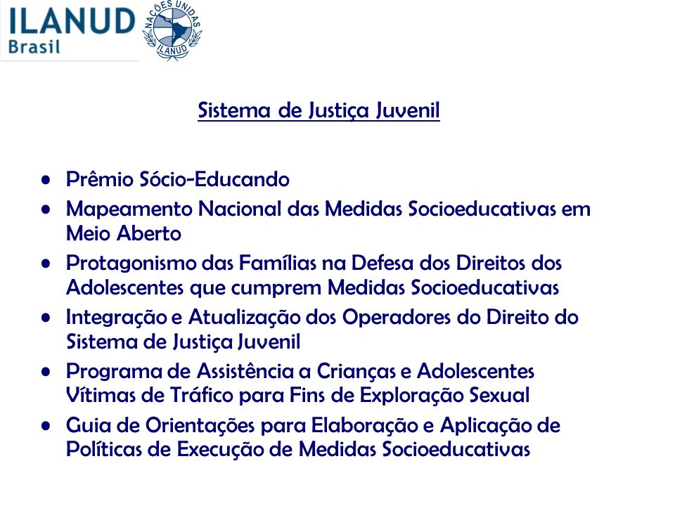 Sistema de Justiça Juvenil