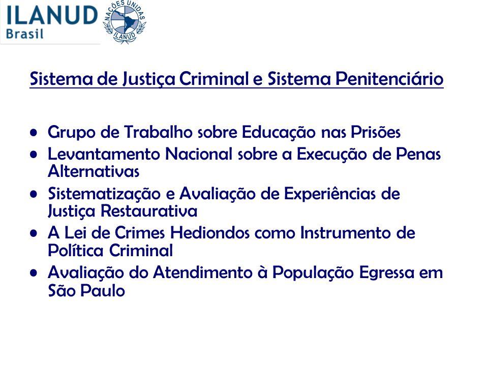 Sistema de Justiça Criminal e Sistema Penitenciário