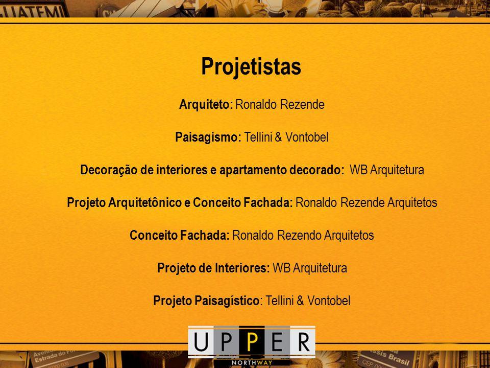 Projetistas Arquiteto: Ronaldo Rezende Paisagismo: Tellini & Vontobel