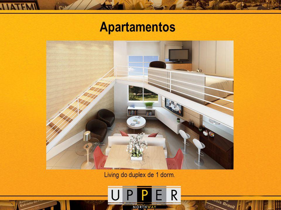 Apartamentos Living do duplex de 1 dorm.