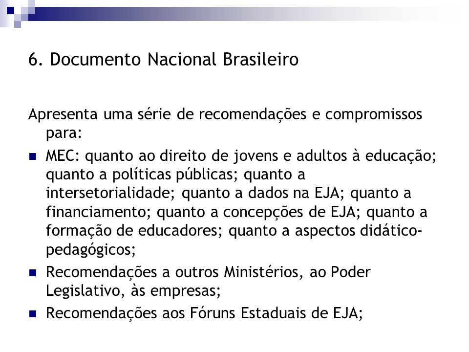 6. Documento Nacional Brasileiro