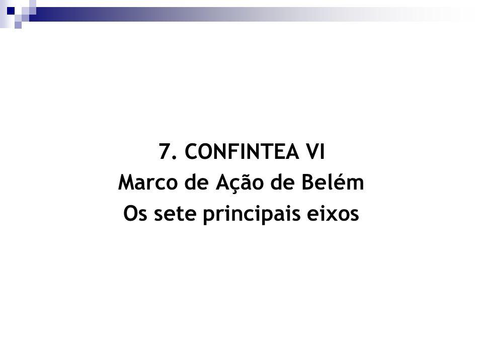 Os sete principais eixos