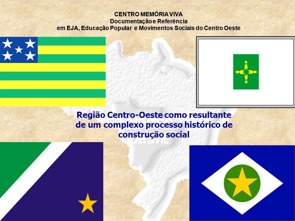 Região Centro-Oeste como resultante de um complexo processo histórico de construção social