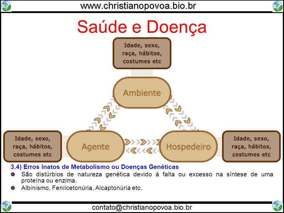Saúde e Doença 3) Tipos de Doenças