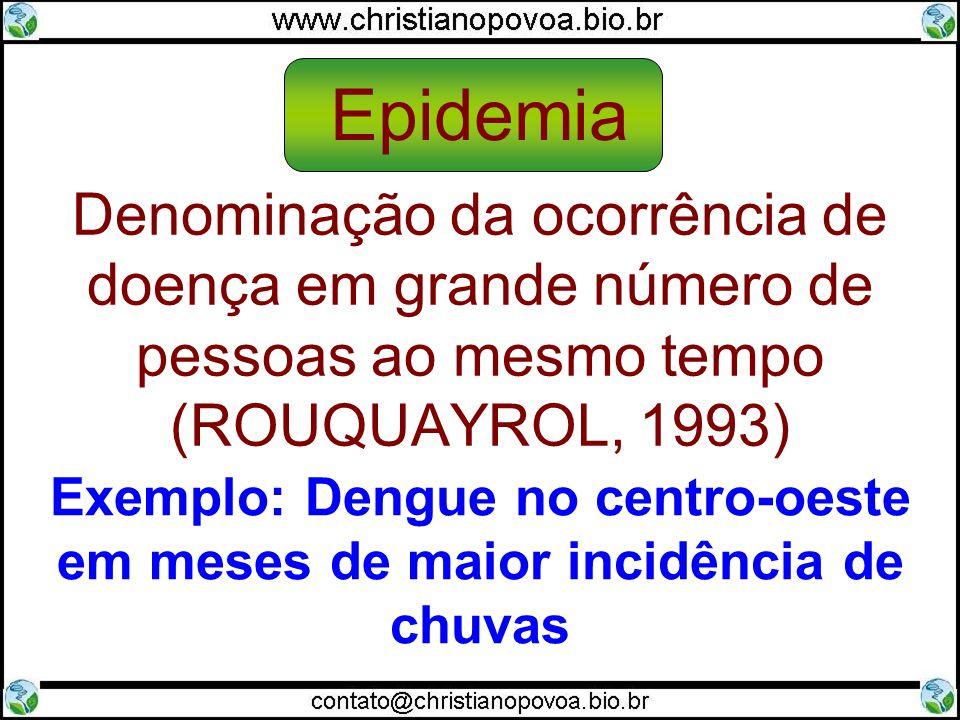Exemplo: Dengue no centro-oeste em meses de maior incidência de chuvas