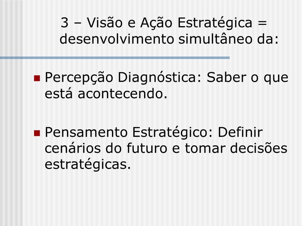 3 – Visão e Ação Estratégica = desenvolvimento simultâneo da: