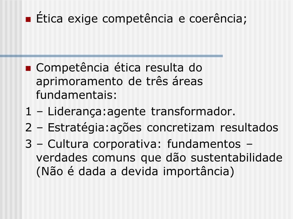 Ética exige competência e coerência;