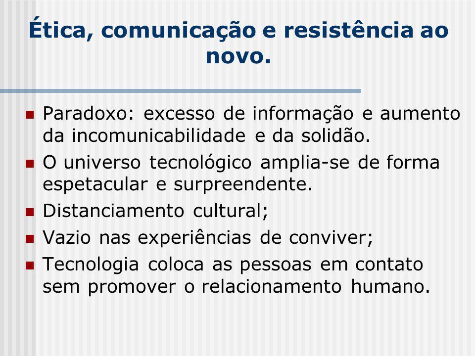 Ética, comunicação e resistência ao novo.