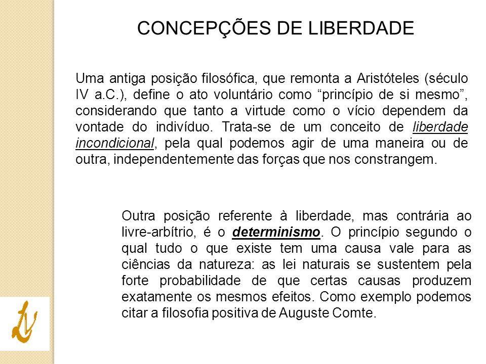 CONCEPÇÕES DE LIBERDADE