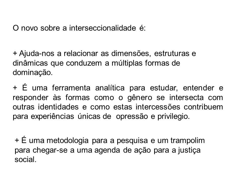 O novo sobre a interseccionalidade é: