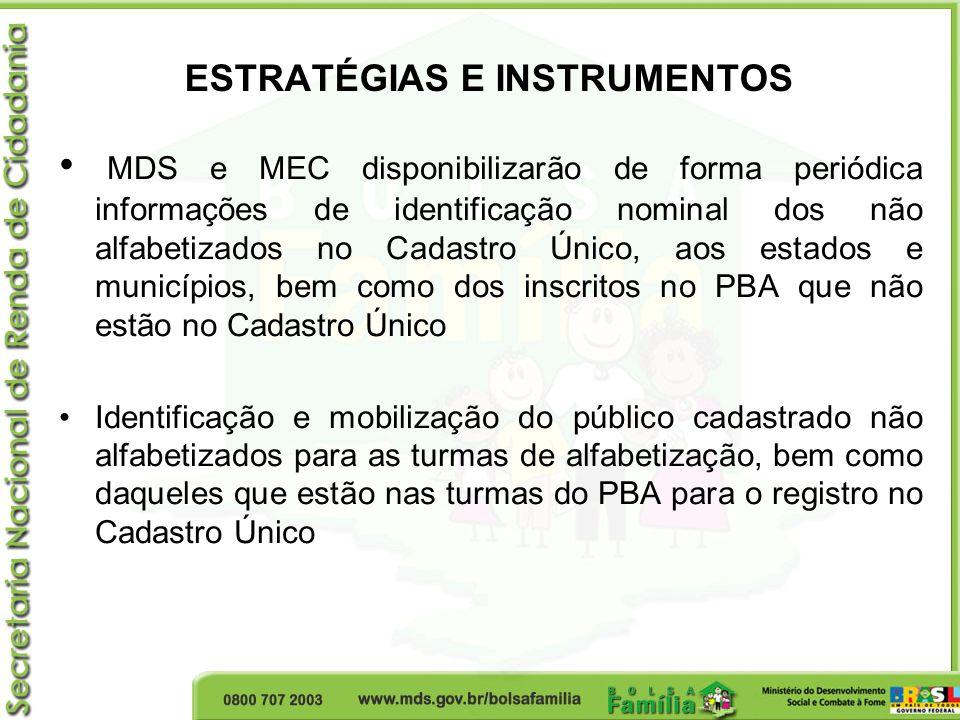 ESTRATÉGIAS E INSTRUMENTOS