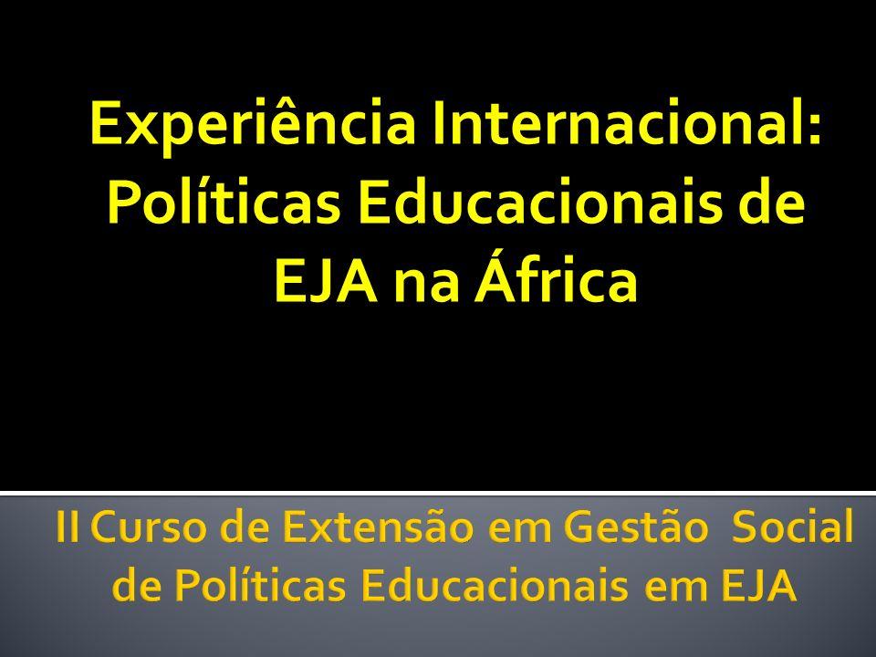 II Curso de Extensão em Gestão Social de Políticas Educacionais em EJA