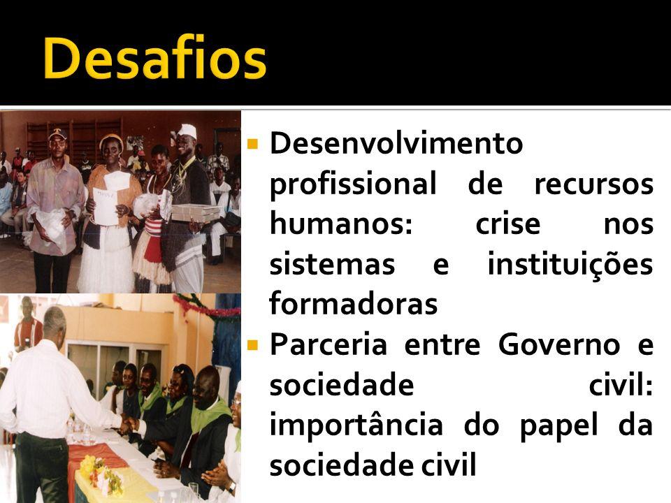 Desafios Desenvolvimento profissional de recursos humanos: crise nos sistemas e instituições formadoras.