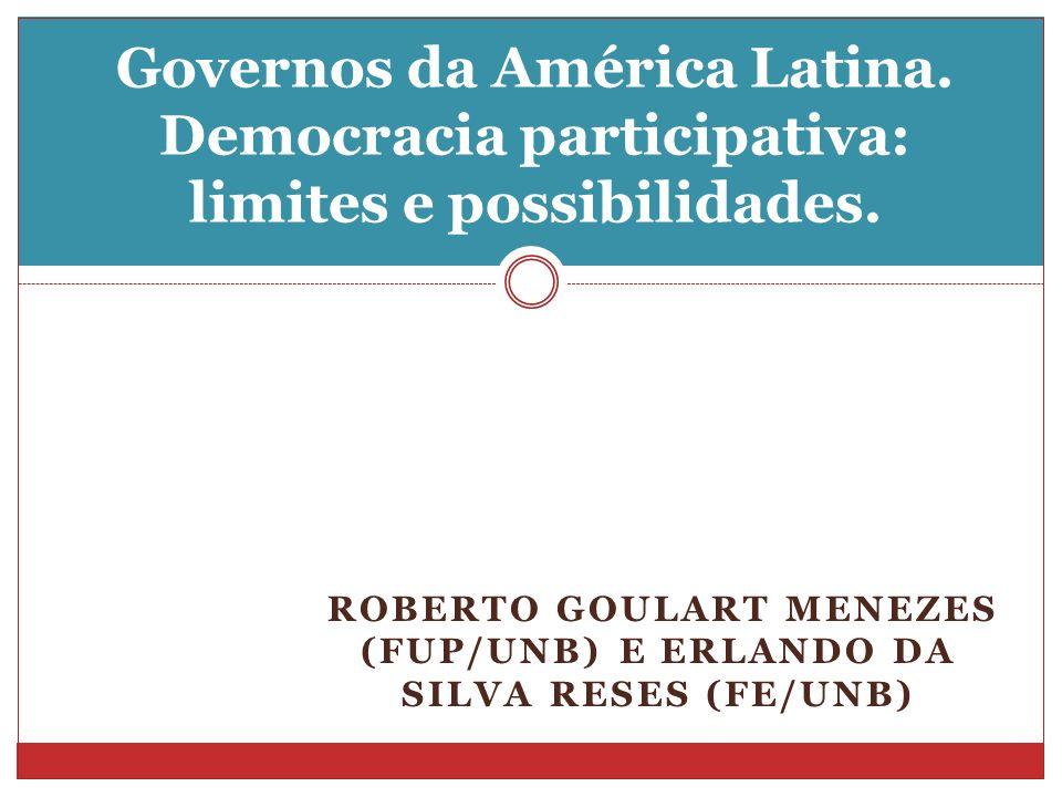 Roberto Goulart Menezes (FUP/UnB) e Erlando da Silva Reses (FE/UnB)