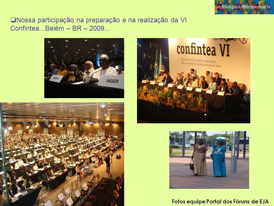 Nossa participação na preparação e na realização da VI Confintea