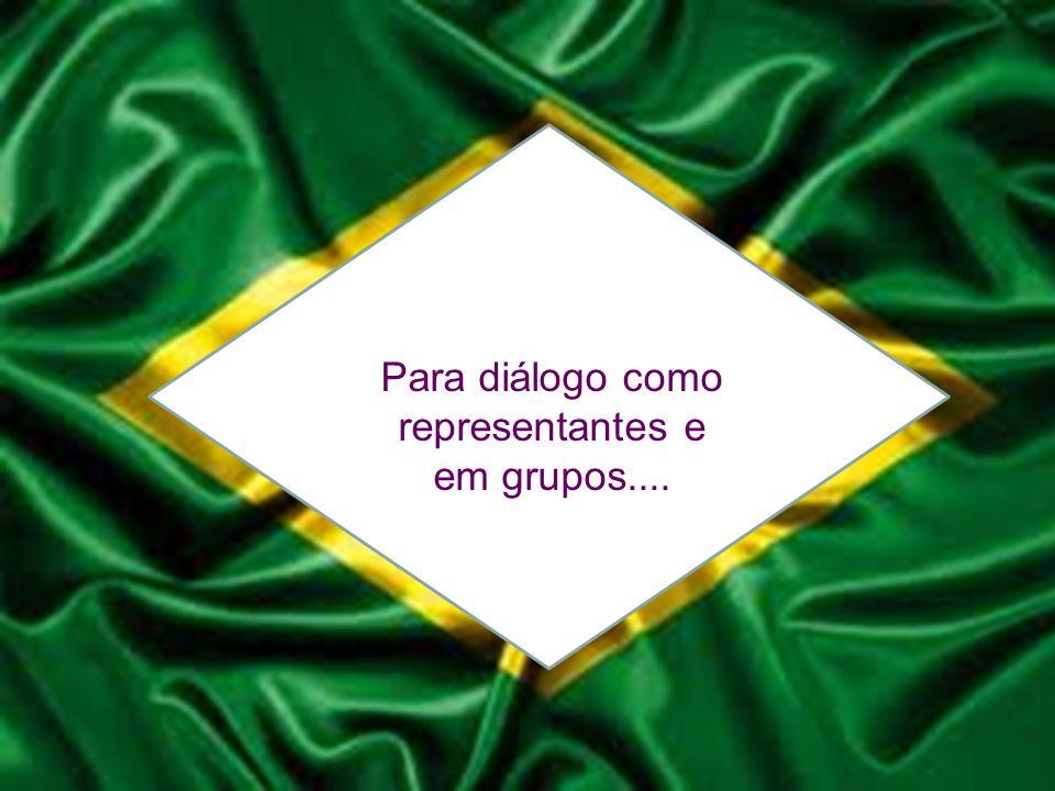 Para diálogo como representantes e em grupos....
