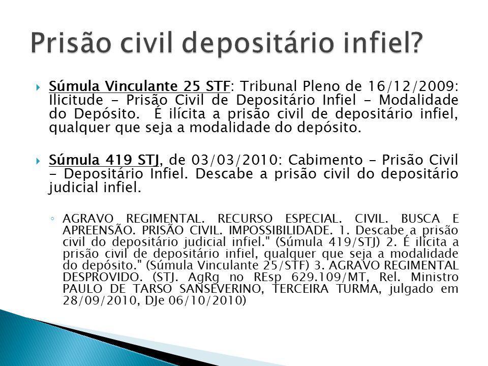 Prisão civil depositário infiel