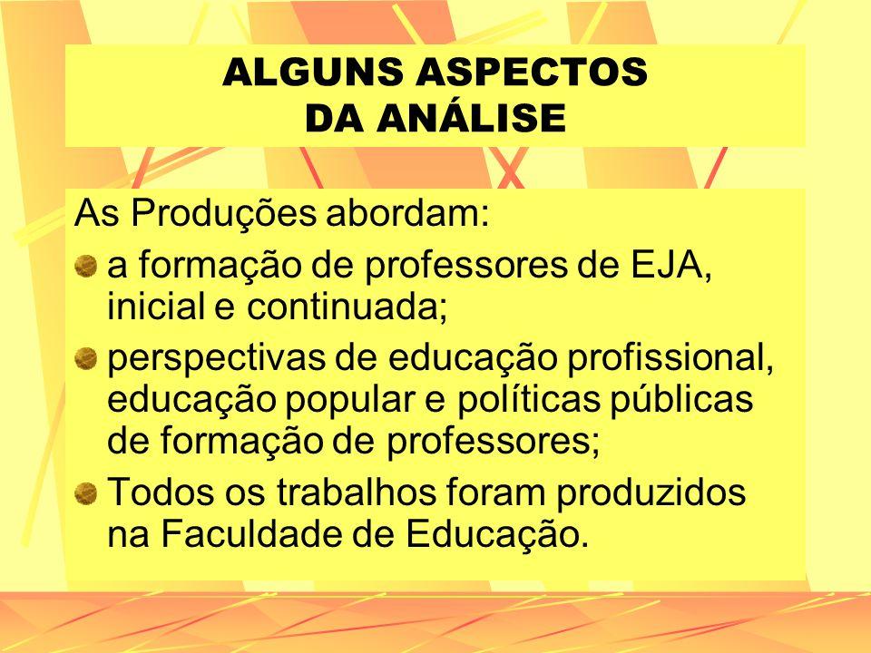 ALGUNS ASPECTOS DA ANÁLISE