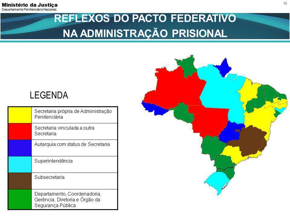 REFLEXOS DO PACTO FEDERATIVO NA ADMINISTRAÇÃO PRISIONAL