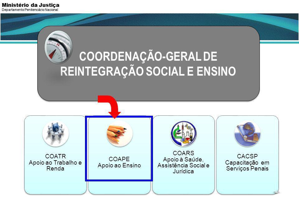 COORDENAÇÃO-GERAL DE REINTEGRAÇÃO SOCIAL E ENSINO