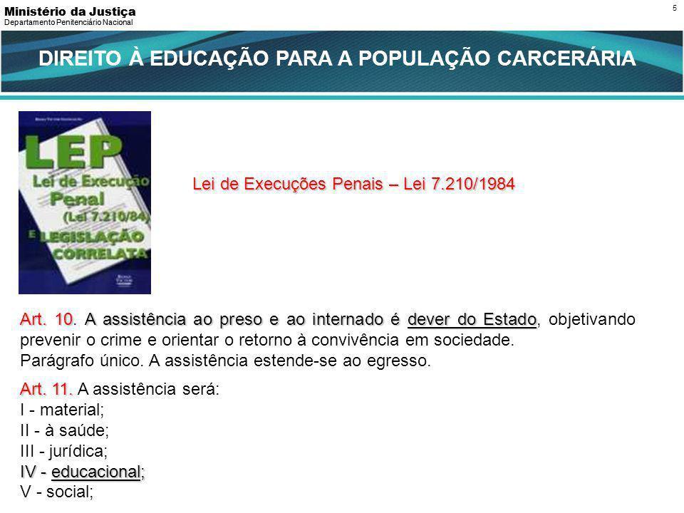DIREITO À EDUCAÇÃO PARA A POPULAÇÃO CARCERÁRIA