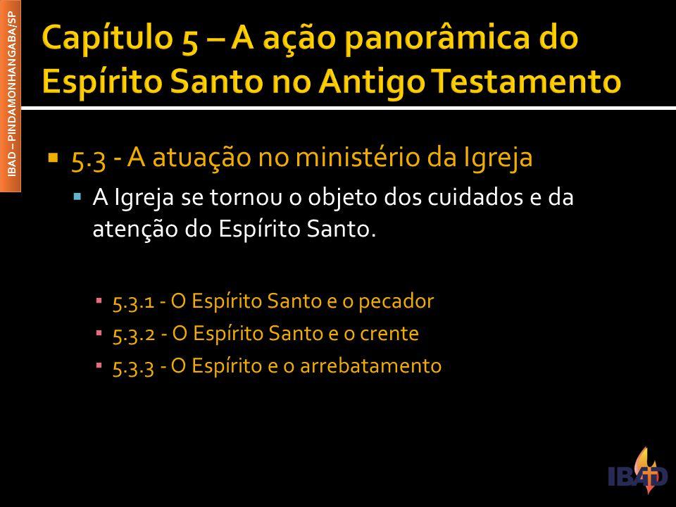 Capítulo 5 – A ação panorâmica do Espírito Santo no Antigo Testamento