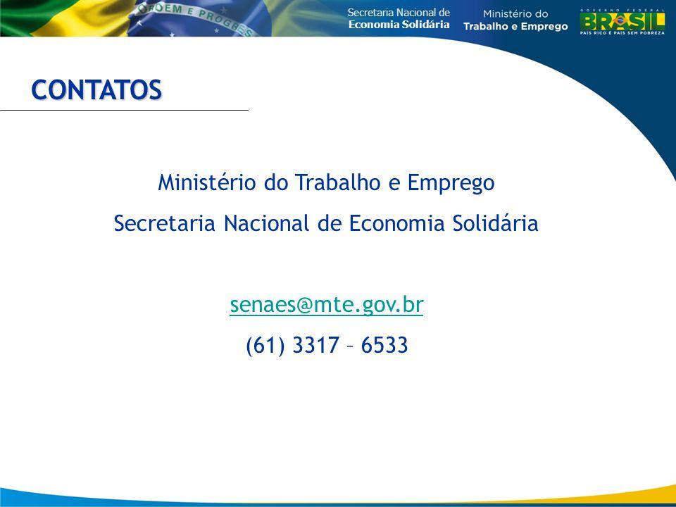 CONTATOS Ministério do Trabalho e Emprego