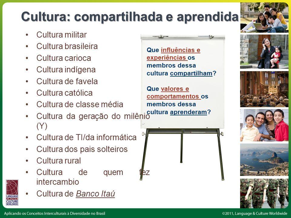 Cultura: compartilhada e aprendida