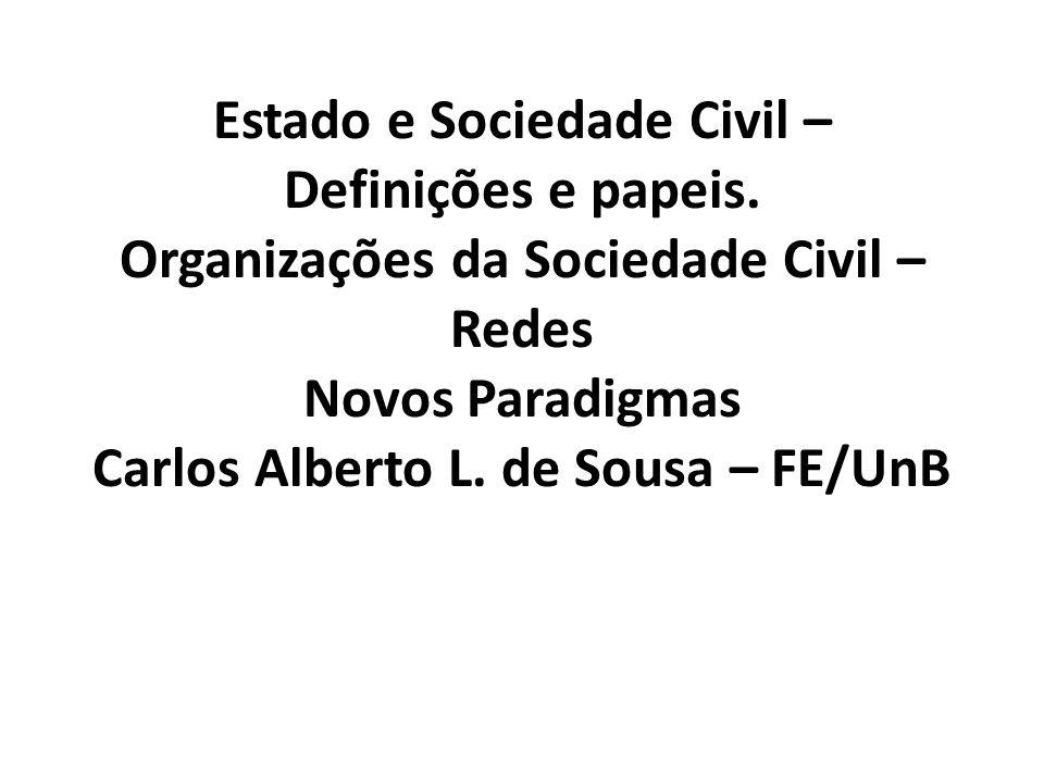 Estado e Sociedade Civil – Definições e papeis