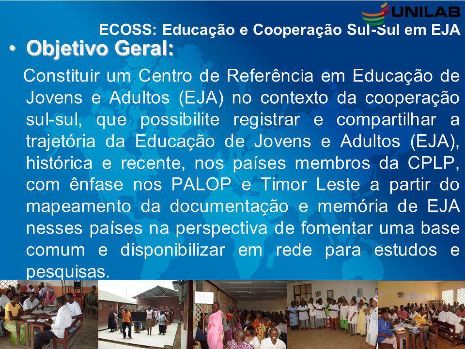 ECOSS: Educação e Cooperação Sul-Sul em EJA