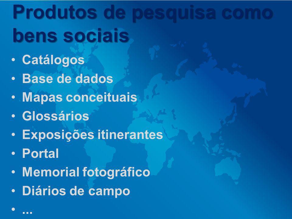 Produtos de pesquisa como bens sociais